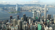 Stock Video Footage of Busy Victoria Harbor in Hong Kong