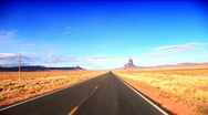 Road to Monument Valley Stock Footage