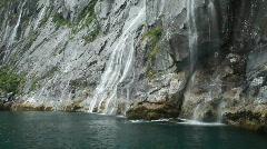 Waterfall tropical water fjord Alaska P HD 8368 Stock Footage