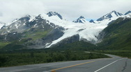 Stock Video Footage of Truck and Worthington Glacier Alaska P HD 8479