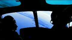 View from Cockpit - stock footage