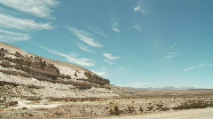 Rocks, Andes, South America Stock Footage