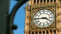Big Ben through Gate CU 1 - stock footage
