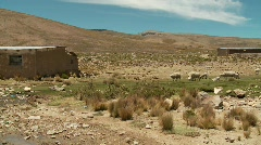 Lonely House In Andes, South America Stock Footage