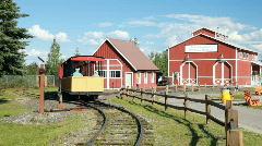 Train away Pioneer park Fairbanks P HD 7954 - stock footage