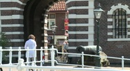 Stock Video Footage of Leiden Morsbrug boat