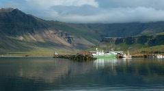 Beautiful Icelandic Fishing Harbor Stock Footage