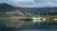 Stock Video Footage of Beautiful Icelandic Fishing Harbor