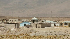 Small Village In Andes Stock Footage
