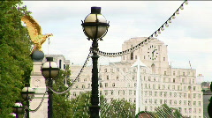 Shell Mex House from Victoria Embankment 2 - stock footage