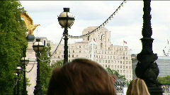 Shell Mex House from Victoria Embankment 1 Stock Footage