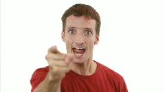 HEEEYYYYY!!!! - Guy is enraged Stock Footage