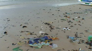 CAMBODIA-BEACH-RUBBISH 1 Stock Footage