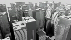 Steel and glass futuristic city Stock Footage
