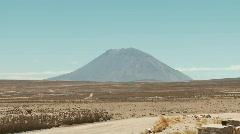 Stock Video Footage of Landscape, Vulcan Misti, Peru