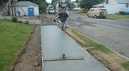 Stock Video Footage of Sidewalk Construction 2