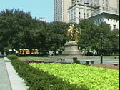 Stock Video Footage of 5th Ave. Park