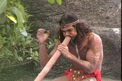 Aborigine Ditherido - stock footage