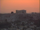 Acropolis at Dusk Stock Footage