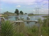 Air Boats in Port Stock Footage