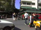 Akadimias Street People Stock Footage