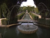 Stock Video Footage of Alhambra Garden Fountains