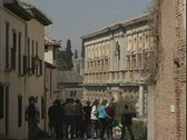 Stock Video Footage of Alhambra Tourists Enter-zoom