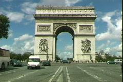 Arc de Triumph Stock Footage
