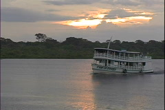 Ariau Ship at Sunset Stock Footage