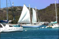 Arriving Mustique-zoom Stock Footage