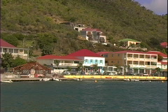 Arriving St. Barth's Dock Stock Footage