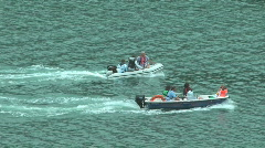 Boats Racing - stock footage