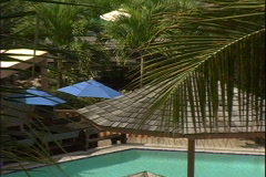 Atrium Pool-zoom Stock Footage