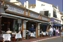 Azul Marino Cafe People - stock footage