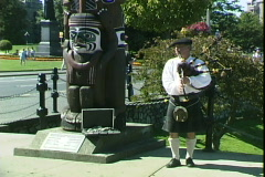 Bagpipe Player Stock Footage