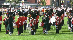 Canadian Foot Guards Stock Footage