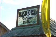 Basil's Bar Sign Stock Footage
