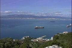 Bay of Gibralter-xws-pan Stock Footage