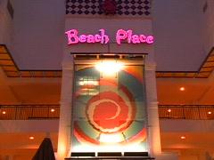 Beach Place Night Stock Footage