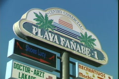 Beach Store Sign Stock Footage