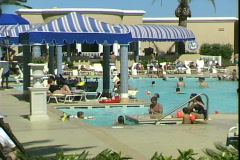 Beau Rivage Pool-pan Stock Footage