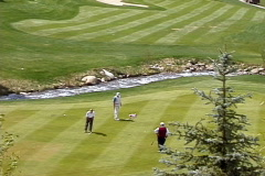 Beavercreek Golf Putting Stock Footage