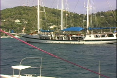 Bequia-starboard view Stock Footage