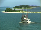 Biloxi Bay Stock Footage