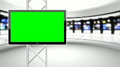 News Studio 9 - Virtual Green Screen News Background White - stock footage
