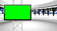 News Studio 9 - Virtual Green Screen News Background White Stock Footage