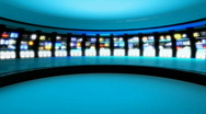 Stock Video Footage of News Studio 9 - Virtual Green Screen News Background