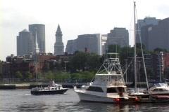 Boston Harbor Boats Stock Footage