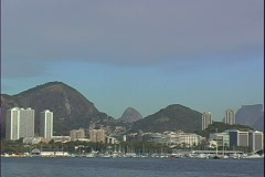 Botafogo from Urca-zoom Stock Footage