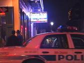 Bourbon Street Cop Cars Stock Footage